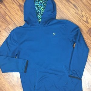 Old navy Solid blue hoodie size 10-12.